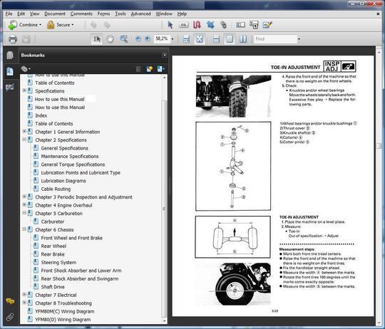 yamaha atv 1989 1991 yfm 250 moto 4 repair manual. Black Bedroom Furniture Sets. Home Design Ideas