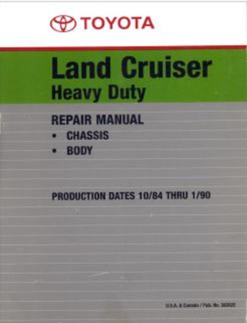 Pay for 1984 -1990 Land Cruiser Heavy Duty Repair Manual