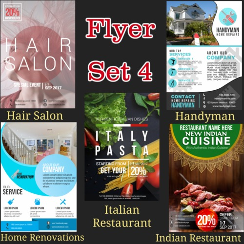 Pay for Niche Flyers Set 4