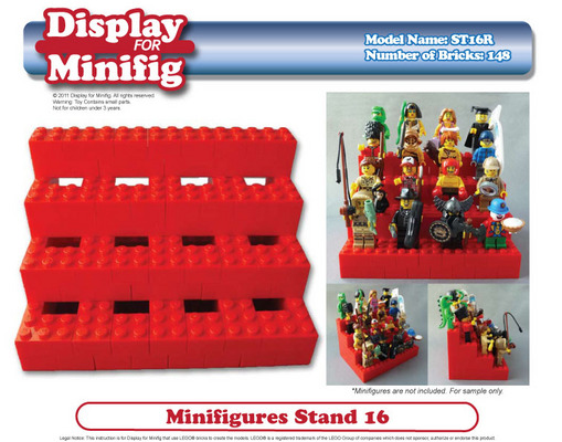 Pay for Custom LEGO Display for Minifig / Minifigures instruction