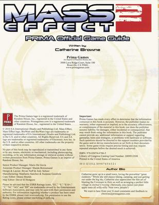 Pay for Mass Effect 2 - Prima Official Game Guide