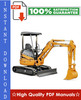 Thumbnail CASE CX20B, CX22B, CX27B HYDRAULIC EXCAVATOR Workshop Service Repair Manual