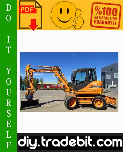 Thumbnail Case WX95, WX125 Wheeled Excavator Service Repair Manual Download