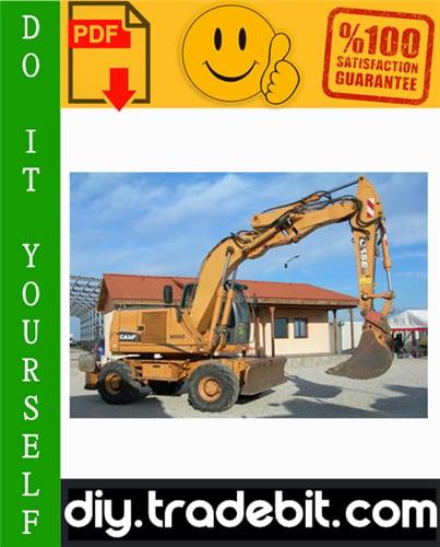 Thumbnail Case WX145, WX165, WX185 Hydraulic Excavator Service Repair Manual Download