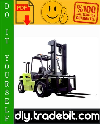 Thumbnail Clark C60D, C70D, C75D, C80D, C60L, C70L, C75L Forklift Service Repair Manual Download