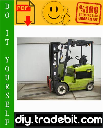 Thumbnail Clark ECG 20, EPG 20, ECG 25, EPG 25, ECG 30, EPG 30, ECG 30x, ECG 32 Forklift Trucks Service Repair Manual Download