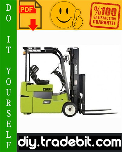 Thumbnail Clark TMX12, TMX13, TMX15S, TMX15, TMX17, TMX18, TMX20, TMX20x, TMX25,EPX16, EPX18 Forklift Trucks Service Repair Manual Download