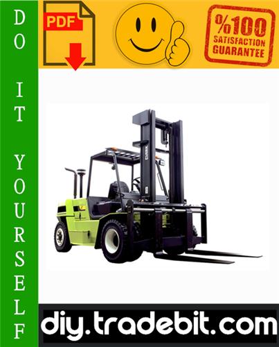 Thumbnail Clark CQ20D, CQ25D, CQ30D, CQ20L, CQ25L, CQ30L Forklift Trucks Service Repair Manual Download