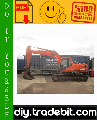 Thumbnail Daewoo Solar S220LC-V Tracked Excavator Service Repair Manual + Operation & Maintenance Manual Download