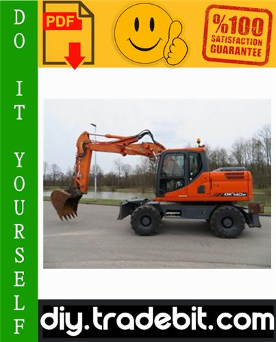 Thumbnail Doosan DX140W / DX160W Wheel Excavator Service Repair Manual Download