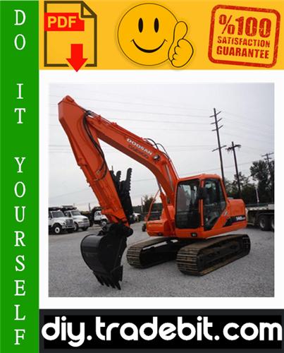 Thumbnail Daewoo Doosan Solar 140LC-V Crawler Excavator Service Repair Manual Download