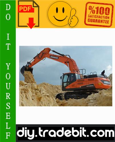 Thumbnail Daewoo Doosan DX300LC Excavator Service Repair Manual Download
