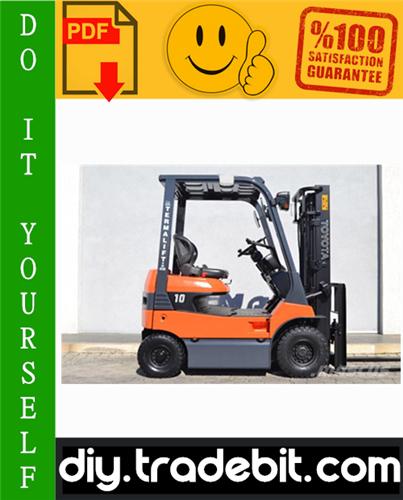 Thumbnail Toyota 7FB10, 7FBH10, 7FB14, 7FBH14, 7FB15, 7FBH15, 40-7FB15, 7FB18, 7FBH18, 7FB20, 7FBH20, 40-7FB20, 7FB25, 7FBH25, 40-7FB25,7FB30,7FBJ35 Electric Powered Forklifts Service Repair Manual Download