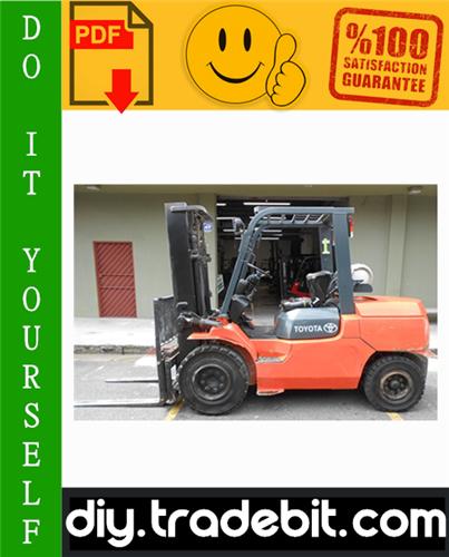 Thumbnail Toyota 7FGU15, 7FDU15, 7FGU18, 7FDU18, 7FGU20, 7FDU20, 7FGU25, 7FDU25, 7FGU30, 7FDU30, 7FGU32, 7FDU32, 7FGCU20, 7FGCU25, 7FGCU30, 7FGCU32 Forklift Trucks Service Repair Manual Download