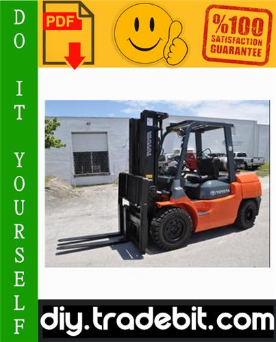Thumbnail Toyota 7FGU/7FDU35-80 & 7FGCU35-70 Forklift Service Repair Manual Download