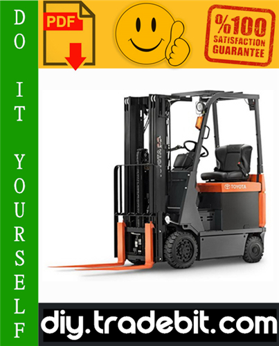 Thumbnail Toyota 7FBCU15-55 & 7FBCHU25 Electric Powered Forklift Service Repair Manual Download