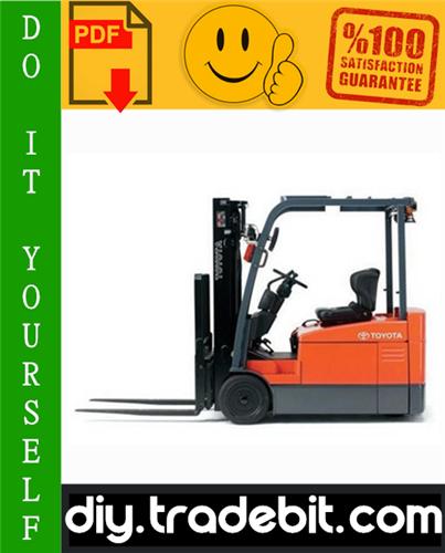 Thumbnail Toyota 7FBEU15, 7FBEU18, 7FBEHU18, 7FBEU20 Electric Powered Forklift Service Repair Manual Download