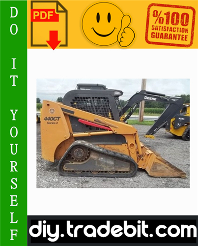 Thumbnail Case 430/440 Skid Steer & 440CT Compact Track Loader Service Repair Manual Download