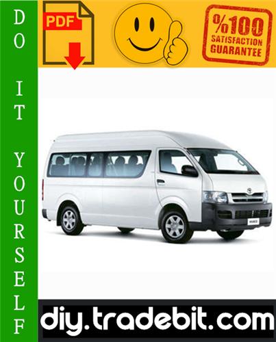 Thumbnail Toyota Hiace Service Repair Manual 1989-2004 Download