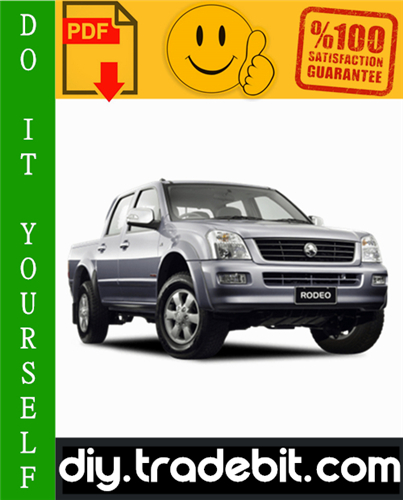 Thumbnail Holden Rodeo / Holden Colorado / Isuzu D-Max - TF Series Service Repair Manual 2003-2008 Download