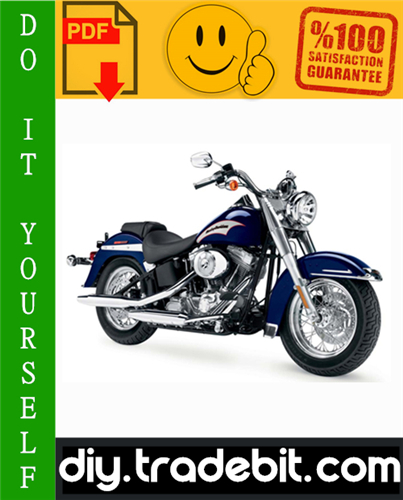 Thumbnail Harley Davidson Softail FLST, FXST Series Motorcycle Service Repair Manual 2000-2005 Download