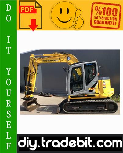Thumbnail New Holland E70bsr MINI Excavator Service Repair Manual Download