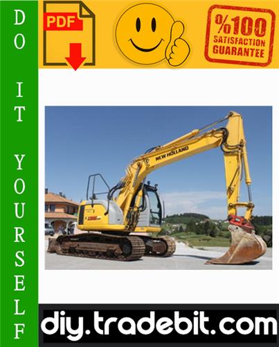 Thumbnail New Holland E115SR, E135SR Hydraulic Excavator Service Repair Manual Download