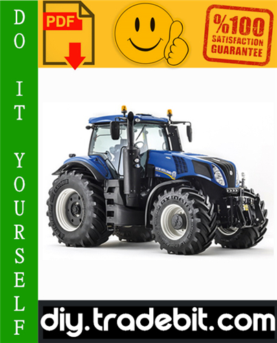 Thumbnail New Holland T8 Series Tractors Service Repair Manual Download