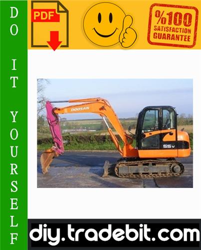 Thumbnail Daewoo Doosan Solar 55-V Plus Excavator Service Repair Manual Download