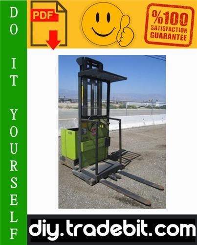 Thumbnail Clark OP7 Forklift Service & Adjustment Manual Download