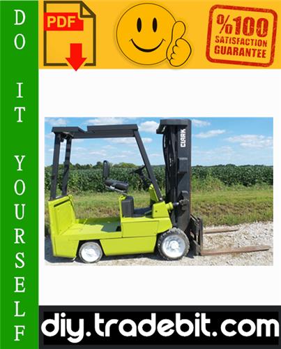 Thumbnail Clark EC500-60, EC500-70, EC500-80 Forklift Trucks Service Repair Manual Download