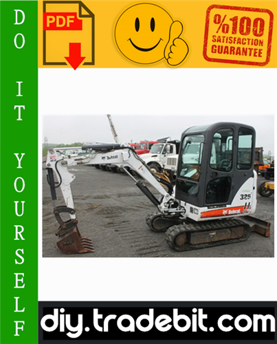 Thumbnail Bobcat 325, 328 Compact Excavator Service Repair Manual Download (325 - S/N 234111001 & Above, 328 - S/N 234211001 & Above, G Series)