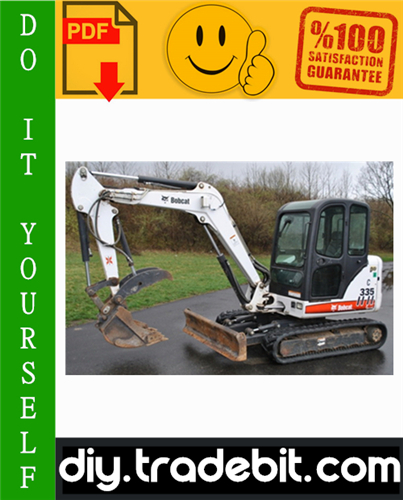 Thumbnail Bobcat 335 Compact Excavator Service Repair Manual Download (S/N: AAD111001 & Above, S/N: A9KA11001 & Above)
