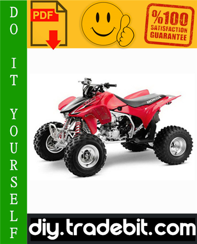 Thumbnail Honda TRX450R / TRX450ER ATV Service Repair Manual 2004-2006 Download