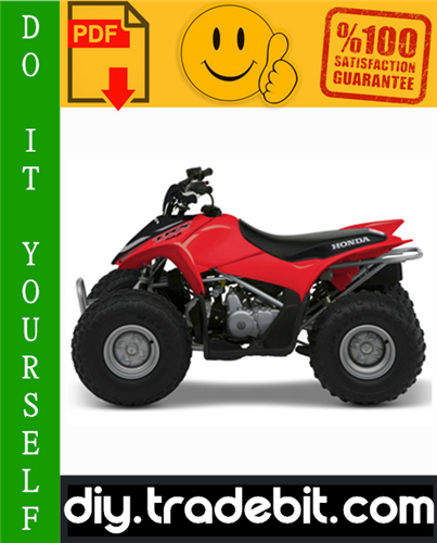 Thumbnail Honda TRX90 ATV Service Repair Manual 1993-2005 Download