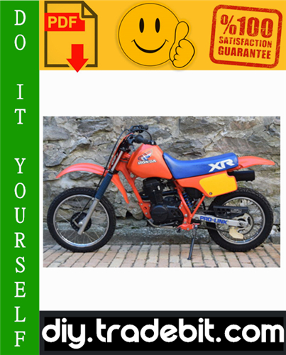 Thumbnail Honda XR80R & XR100R Motorcycle Service Repair Manual 1998-2003 Download