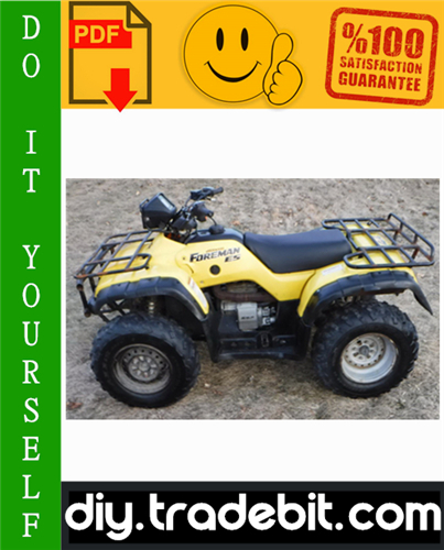 Thumbnail Honda TRX450S / TRX450FM / TRX450ES / TRX450FE FOURTRAX FOREMAN ATV Service Repair Manual 1998-2004 Download