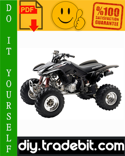 Thumbnail Honda TRX400EX FOURTRAX ATV Service Repair Manual 1999-2002 Download