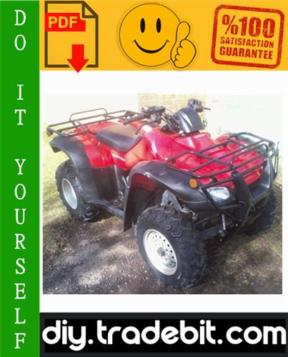 Thumbnail Honda TRX400FA / TRX400FGA Fourtrax Rancher ATV Service Repair Manual 2004-2007 Download