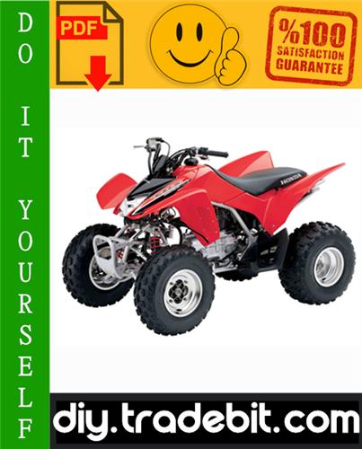 Thumbnail Honda TRX250EX / TRX250X Sportrax ATV Service Repair Manual 2006-2011 Download