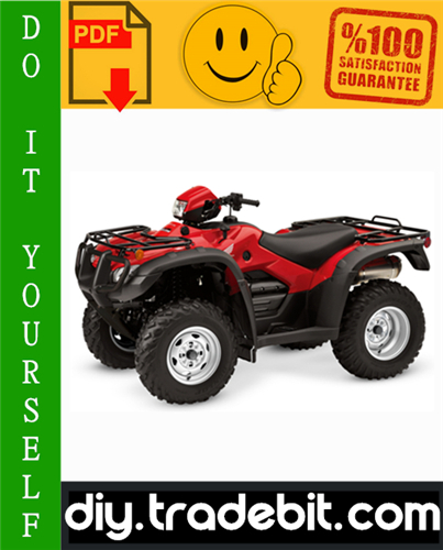 Thumbnail Honda TRX500 / TRX500FE / TRX500FPE / TRX500FM / TRX500FPM / TRX500TM Fourtrax Foreman ATV Service Repair Manual 2005-2011 Download