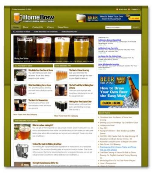 Pay for Home Brewing Niche Blog