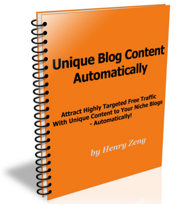Pay for Unique Content Generator - Master Resell Right Included