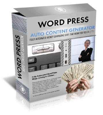 Pay for Auto Content Generator PHP Script For Wordpress Blog