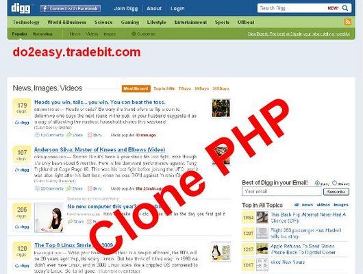 Pay for Digg.com Clone PHP Script