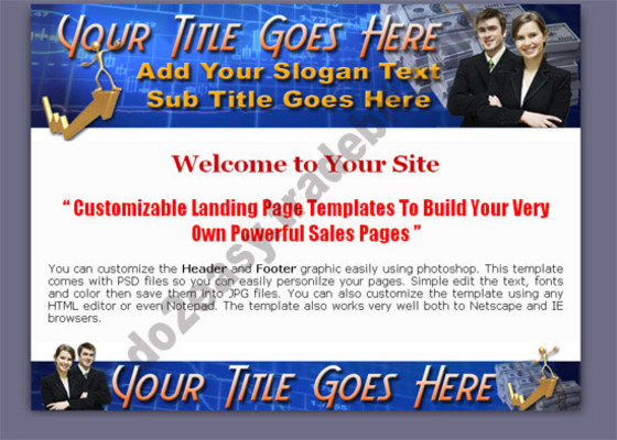 Pay for Professional Landing Page Template