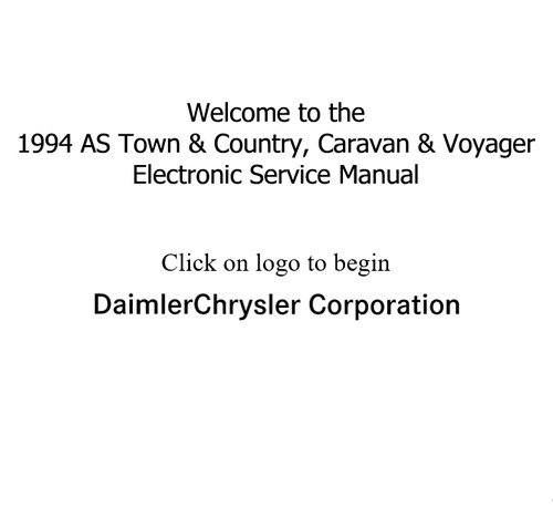 Pay for 1994 AS Town & Country, Caravan & Voyager Electronic Manual