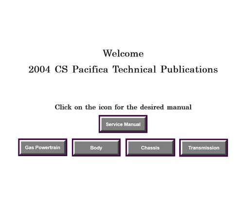 2004 cs pacifica factory service manual download