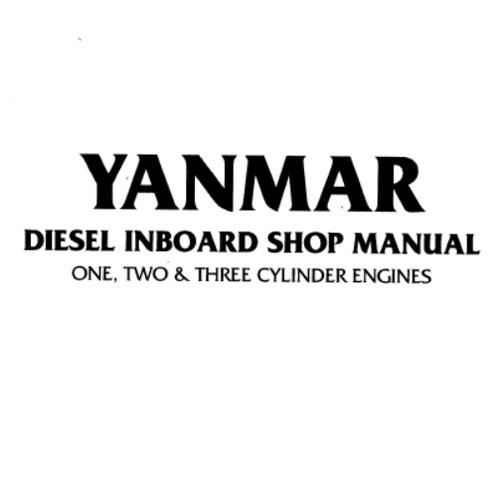 1-, 2-, 3-Cylinder Diesel Inboard Engines Shop Manual PDF