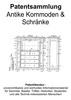 Thumbnail Antike Kommoden und Schränke - Patentsammlung Technik